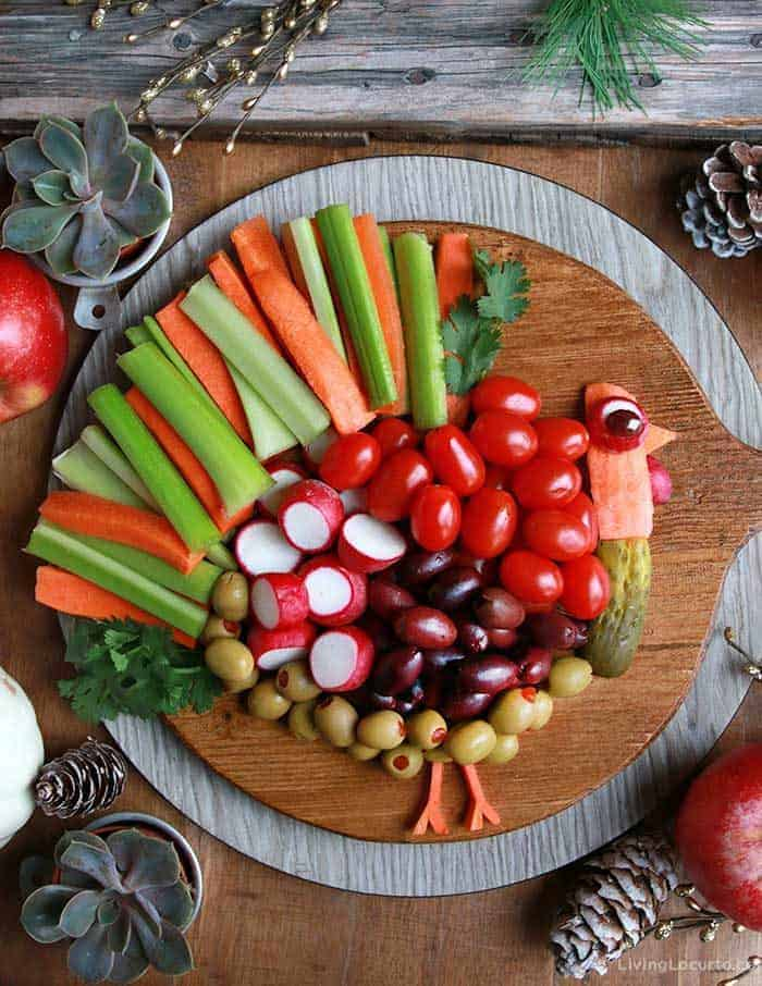 Easy Holiday Recipes - Turkey Vegetable Tray for Thanksgiving Dinner