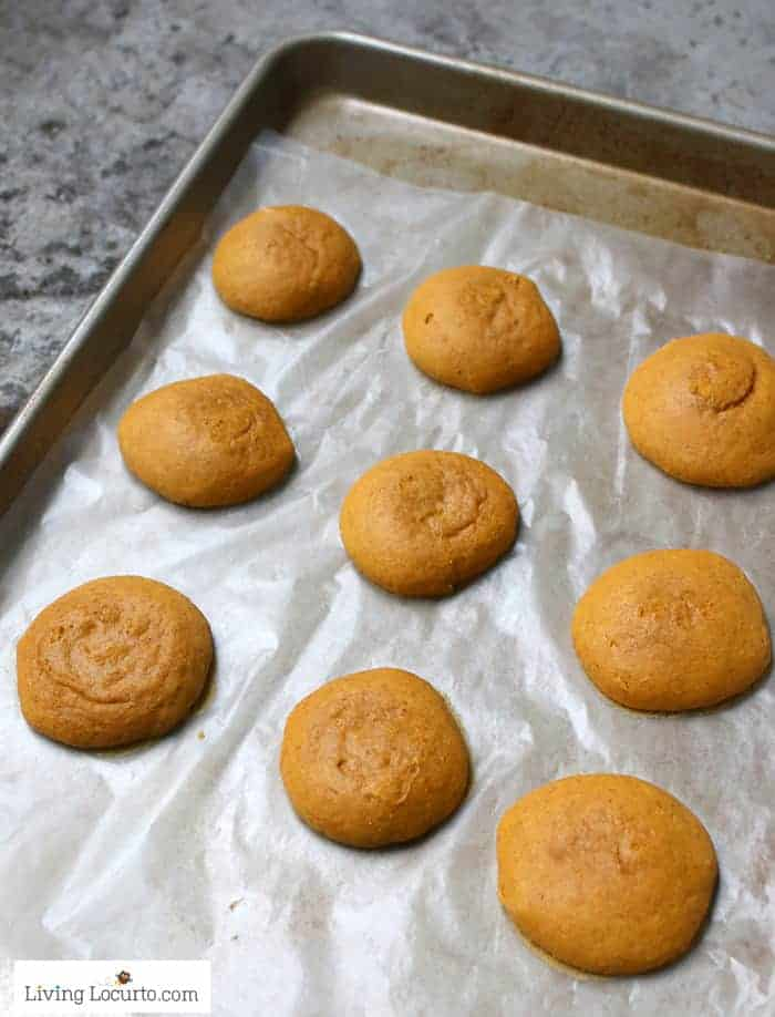 Pumpkin Cookies! Easy Cake Mix Cookie recipe for fall.