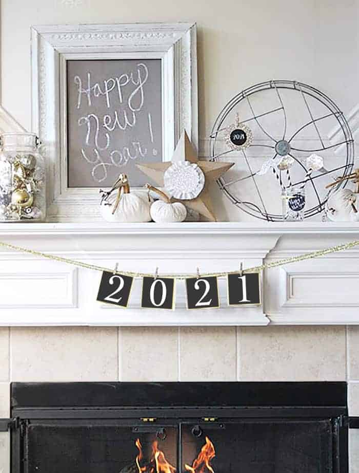 2021 New Year Banner Printable