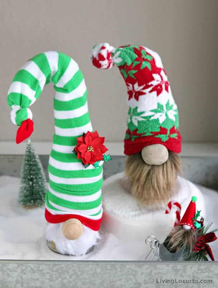 DIY Christmas Gnomes Craft Tutorial with Socks