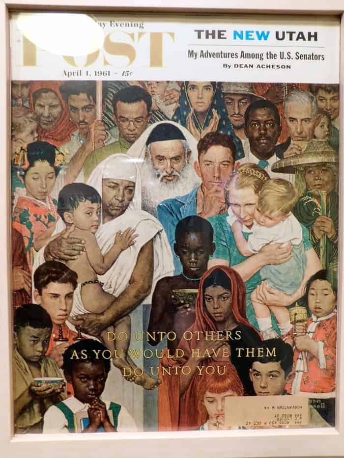 Norman rockwell's peace cover
