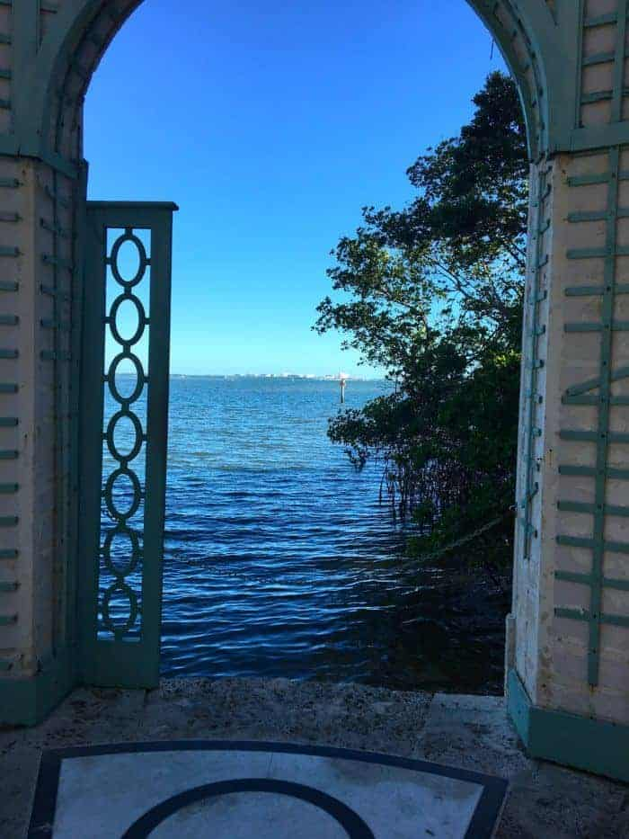 The seaside gazebo at vizcaya mansion