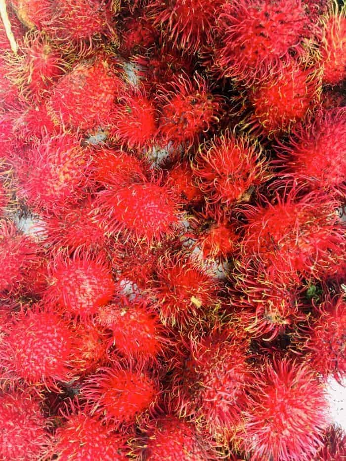 Red rambutans