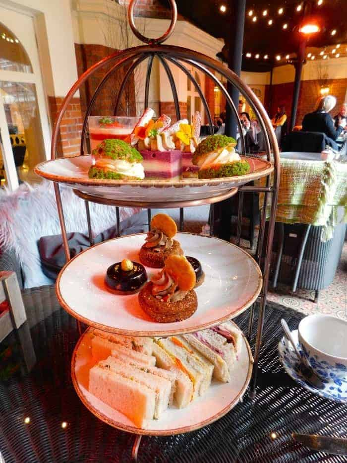Sweets and savories for afternoon tea at st. Ermine's in london
