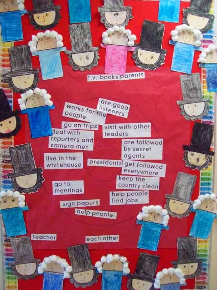 Presidents Day Crafts for Kids Lincoln and Washington Paper Craft Idea