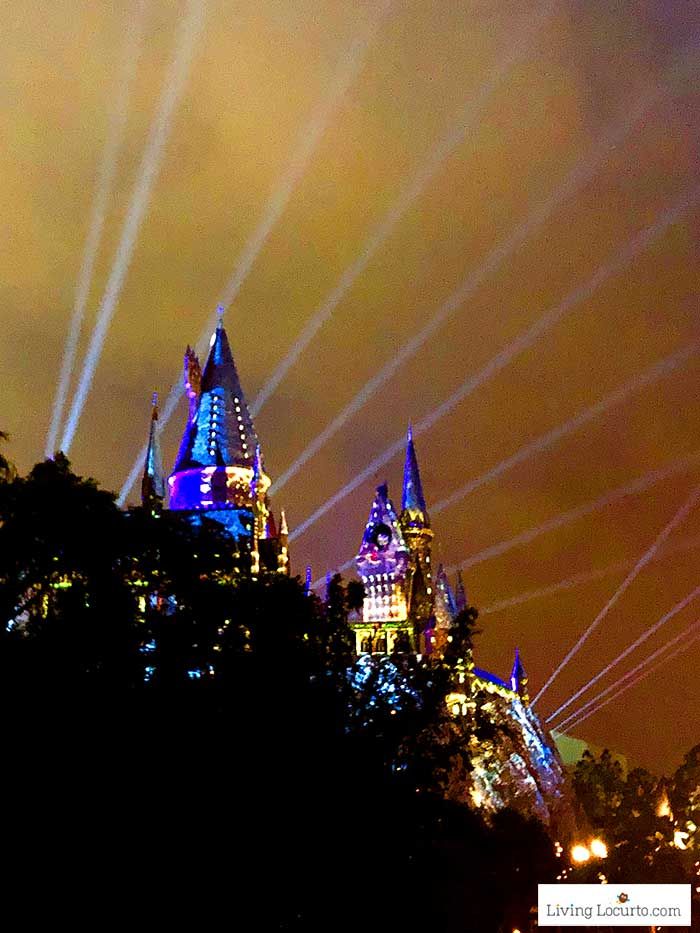 Harry Potter Castle light show | Christmas at Universal Orlando. Learn what's new this holiday season and get travel tips to make your Christmas vacation special.