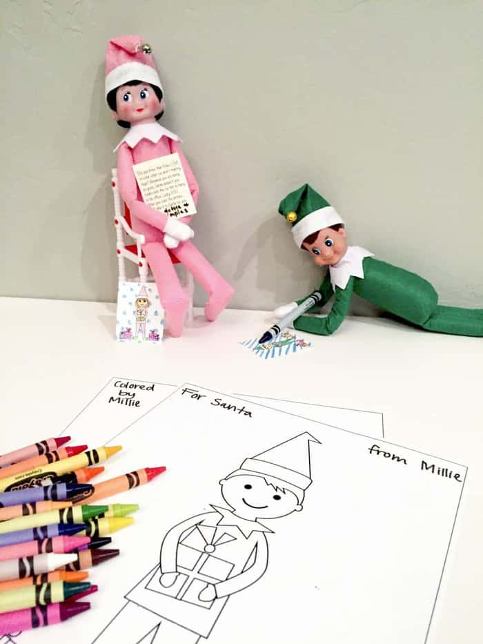 Elf Printable Coloring Sheets - Featured elves from Sumdgey