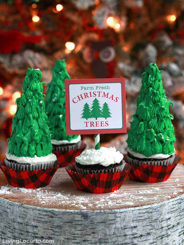 Easy Christmas Tree Cupcakes make the perfect holiday dessert!