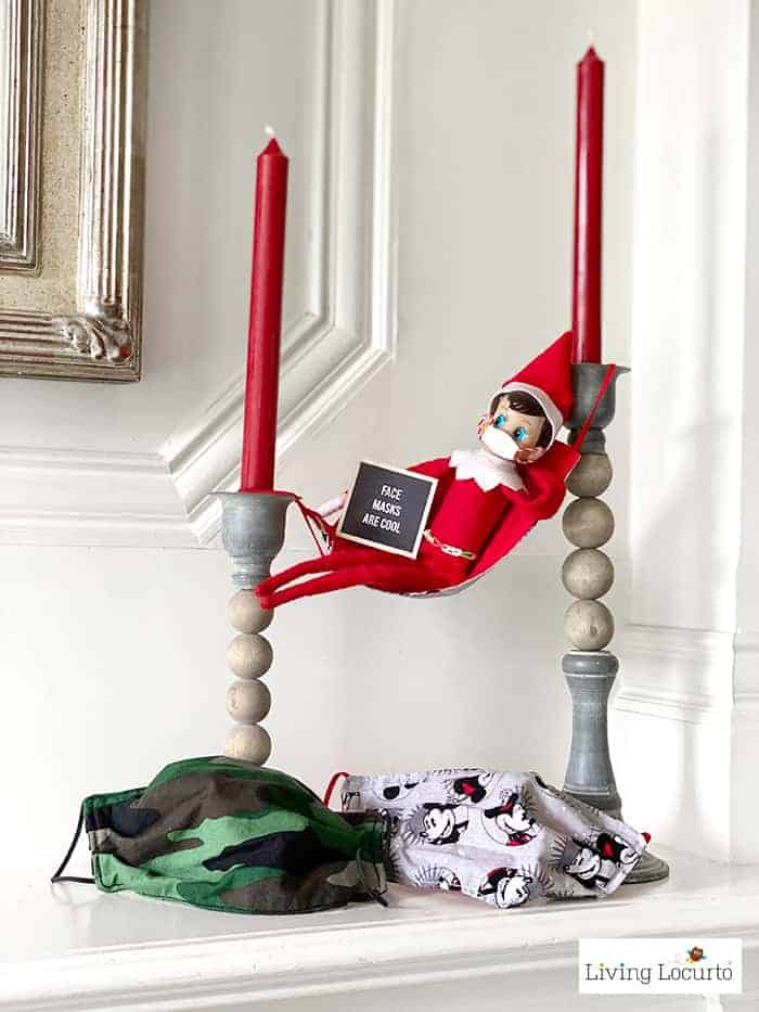 9 Hilarious Stuck at Home Elf Letter Board Signs - Wear Face Masks - Living Locurto