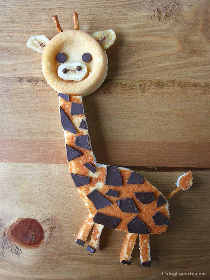 Giraffe Cake Dessert Board - No Bake Snack for Birthday or Baby Shower