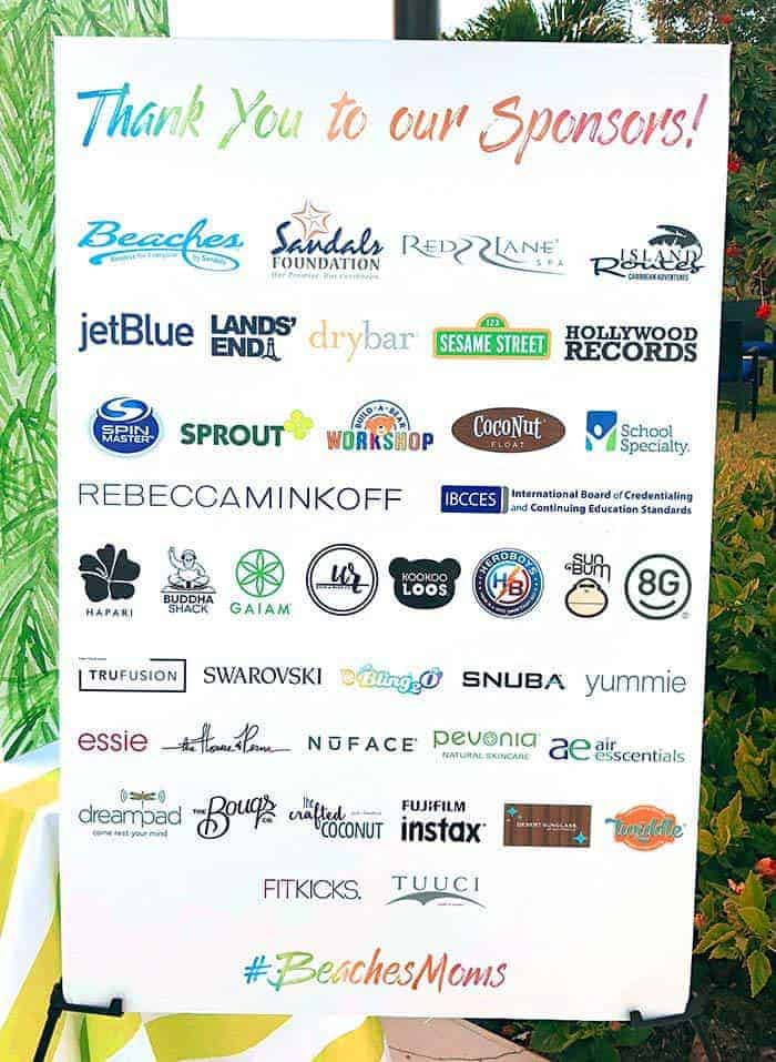 Beaches Resorts Social Media on the Sand event partners. Living Locurto