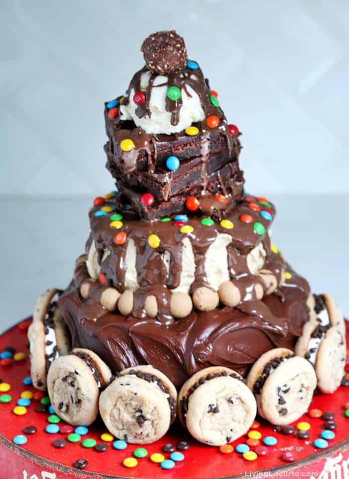 Hot Fudge Sundae Birthday Cake