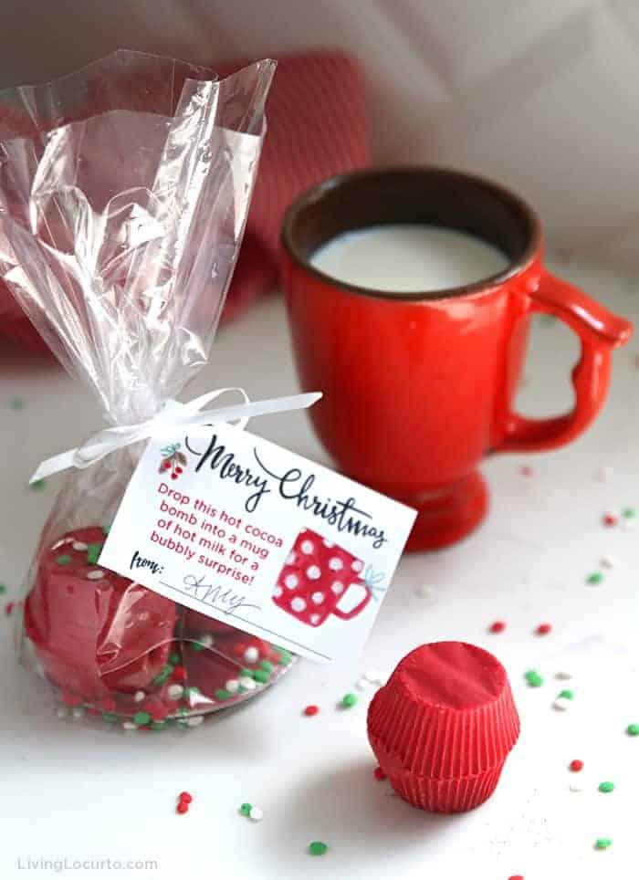 Hot Chocolate Bombs Recipe Printable Christmas Gift Tags Living Locurto