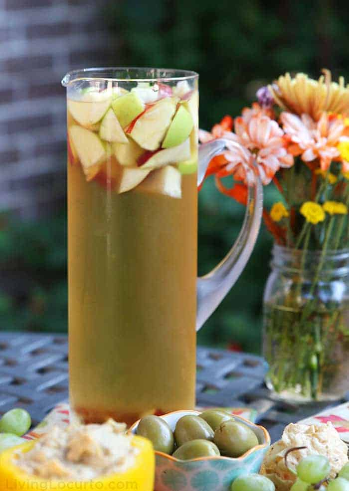 Fall Sangria Autumn Drink Apple Cider Wine Recipe