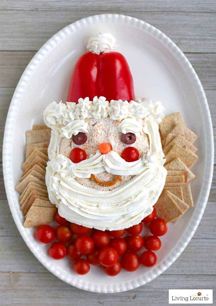 25 Christmas Appetizer Party Recipes - Santa Cheese Ball Recipe
