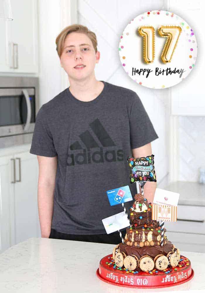 Hot Fudge Sundae Birthday Cake for a teenager