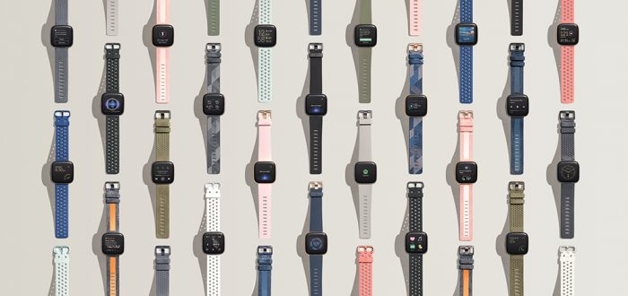 Five versions of the Fitbit Versa 2
