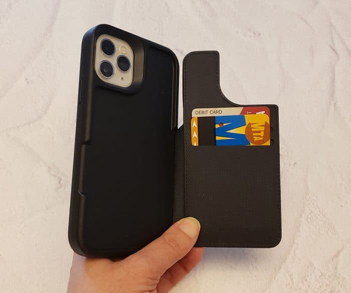 LifeProof FLiP iPhone case - wallet open, with cards