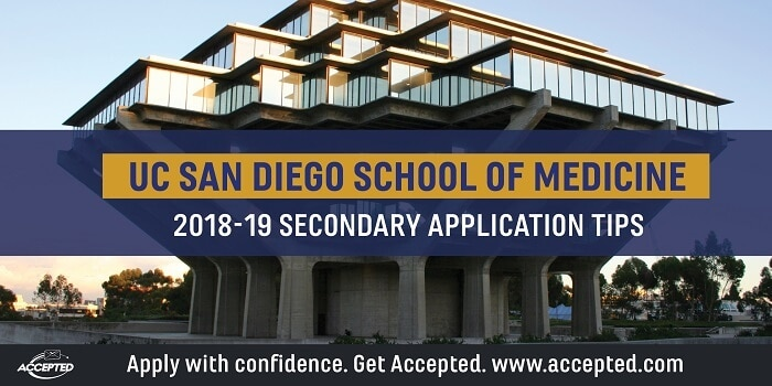 UCSD School of medicine 2018-19 secondary tips