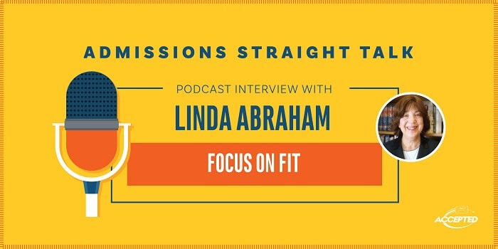 Podcast interview with Linda Abraham Focus on Fit Encore