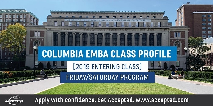 Columbia EMBA Class Profile Fri-Sat Program