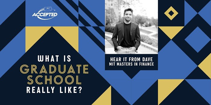 What is graduate school really like? Hear it from Dave, MIT Master's in Finance graduate!
