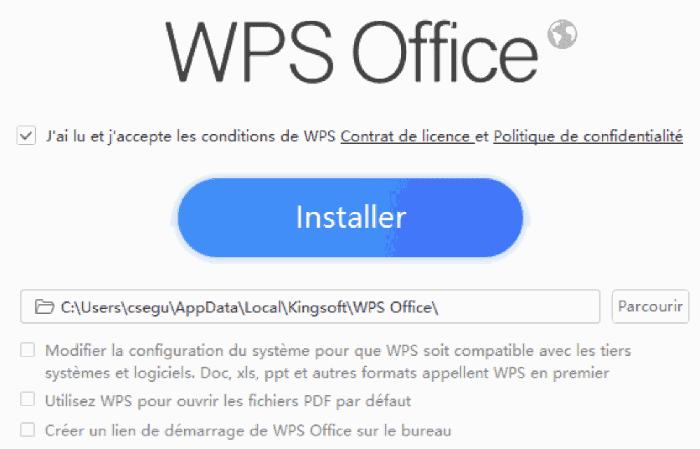 Installation de WPS Office