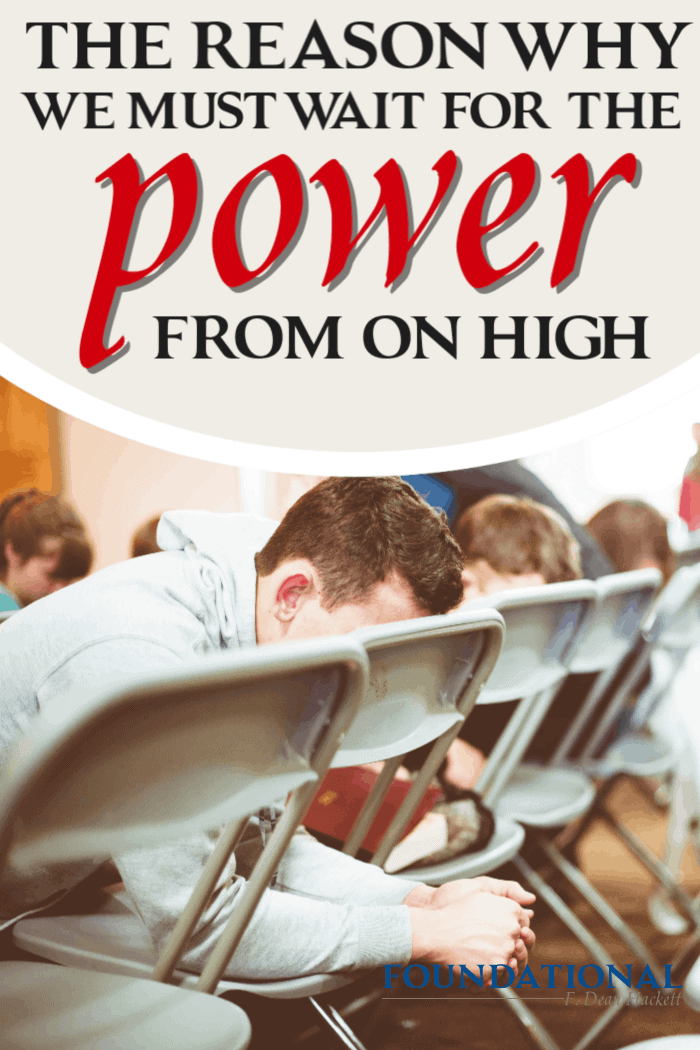 Jesus told his disciples that they must wait for the power from on high. Here is the Hebrew word for wait and what it means for the Church today. #Foundational #holyspirit #power #Bible