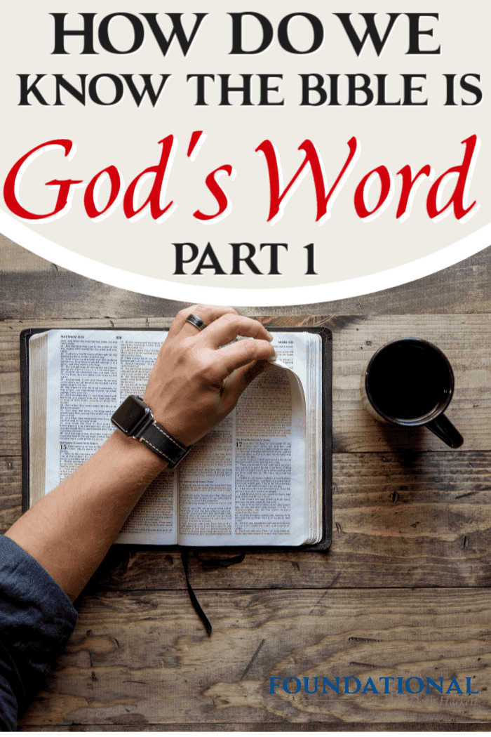 Today's podcast is part one of a 3-part study on how we can be certain that the Bible is God's Word, not just the words of man or historical documentary. #foundational #Bible #God's Word #Gnosticism #Dan Brown #DaVinciCode