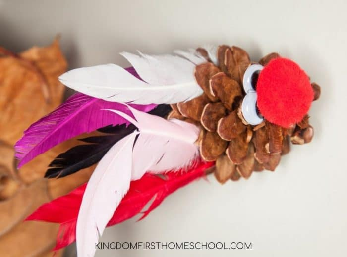 7 super fun and easy Thanksgiving Crafts for Kids - Pinecone Turkey