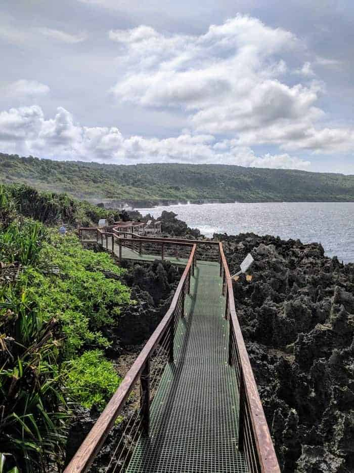 Boardwalk at theBlowholes Christmas Island