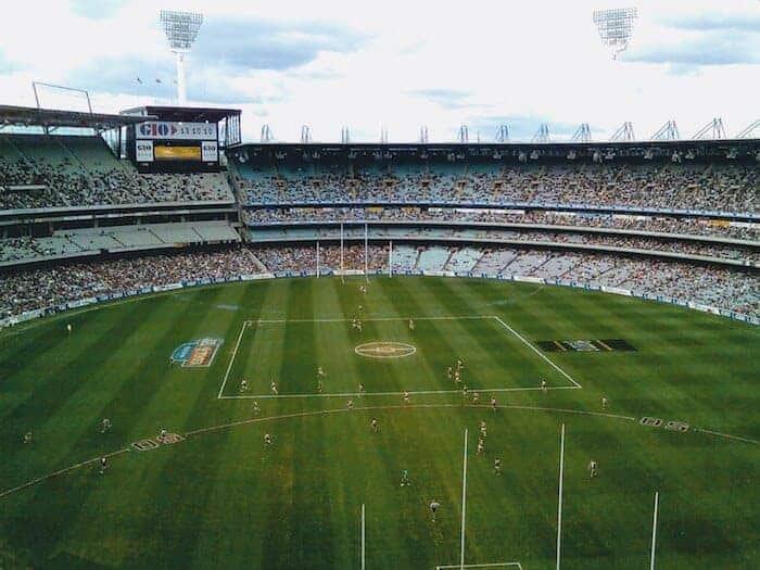 The MCG Stadium from above