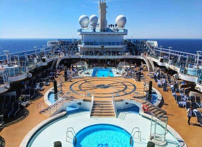 Swimming Pool on the Regal Princess