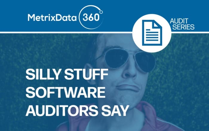 Software Auditors: Top 10 Silly Things They Say
