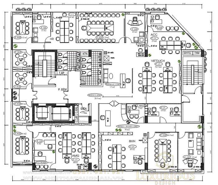 Bản vẽ thiết kế văn phòng làm việc MBH Việt Nam JSC