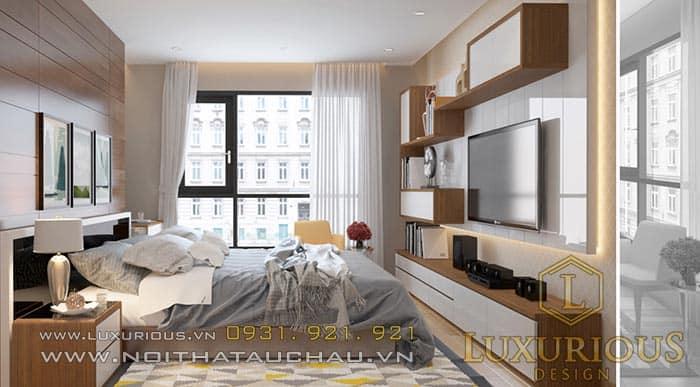 Mẫu thiết kế phòng ngủ chung cư