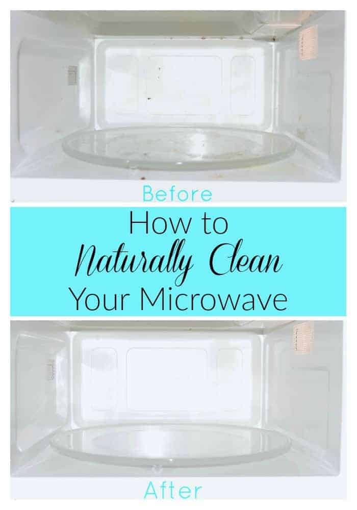 Microwaves can get very dirty and it's easy to hide that mess and forget about it. Learn how to naturally clean your microwave! #microwave #naturally #clean #greencleaning