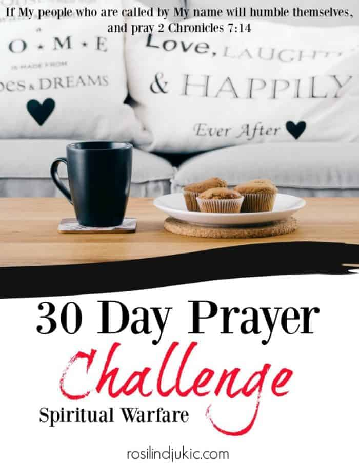 Join the 30 Day Prayer Challenge on Spiritual Warfare today! Click here to find out how you can download your copy today! A Little R & R | Rosilind Jukić | Christianity | Christian living | Christian blog | Christian faith | Bible Verse | Spiritual Warfare #spiritualwarfare #prayer #warroom #warriorprincess #prayerjournaling #Scripture #Christian #Christianliving #spiritual #spiritualgrowth #Bible #God #jesus