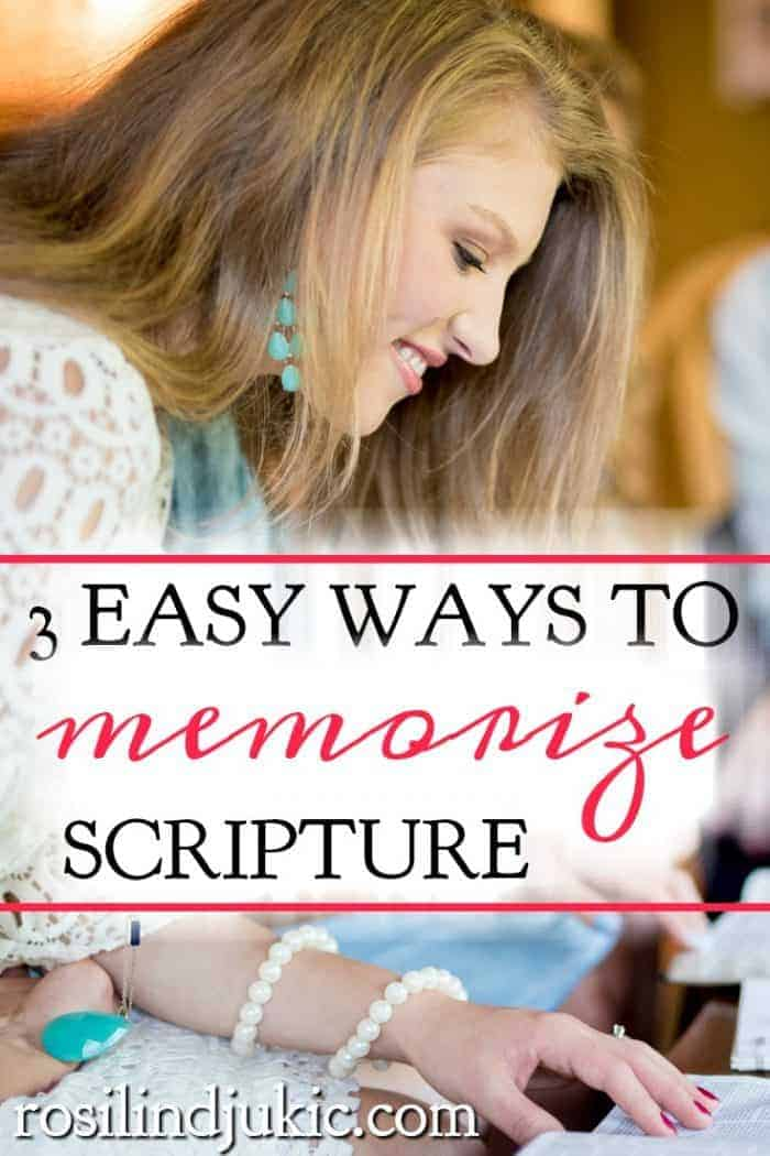 Memorizing scripture is so important for us in resisting the devil and renewing our mind. Here are 3 easy ways to memorize scripture. #alittlerandr #memorize #Bibleverses #quiettime #warroom