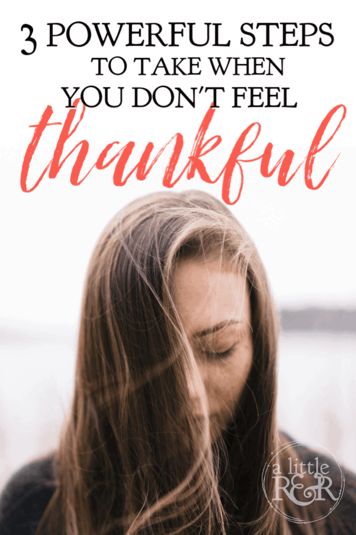 Here are 3 steps to take when you don't feel thankful this year; instead of pulling away and surviving this season, rise up and let joy fill your heart.#alittlerandr #thanksgiving #thankful #trials