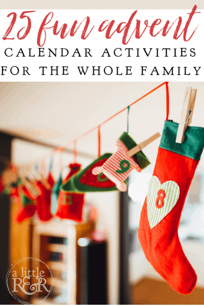 Here is the best list of advent calendar activities for the whole family that replace chocolate and candy kids usually get this time of year, plus a free printable! #alittlerandr #advent #calendar #Christmas #parenting #parentinghacks