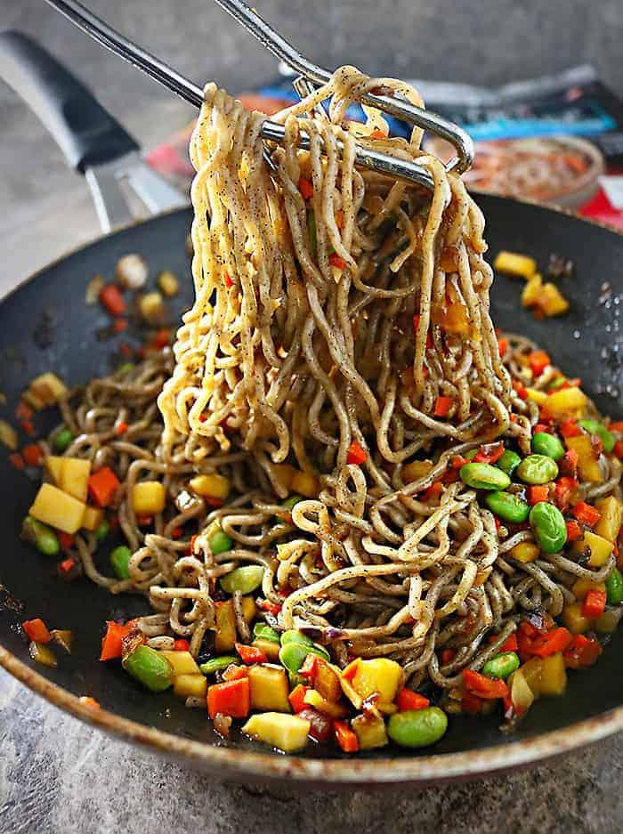Soba Buckwheat Noodle Stir-Fry Photo