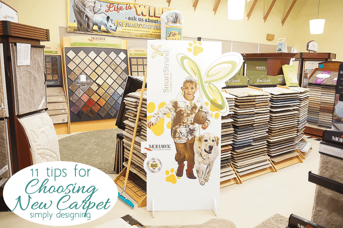 SmartStrand Display in Carpet Store