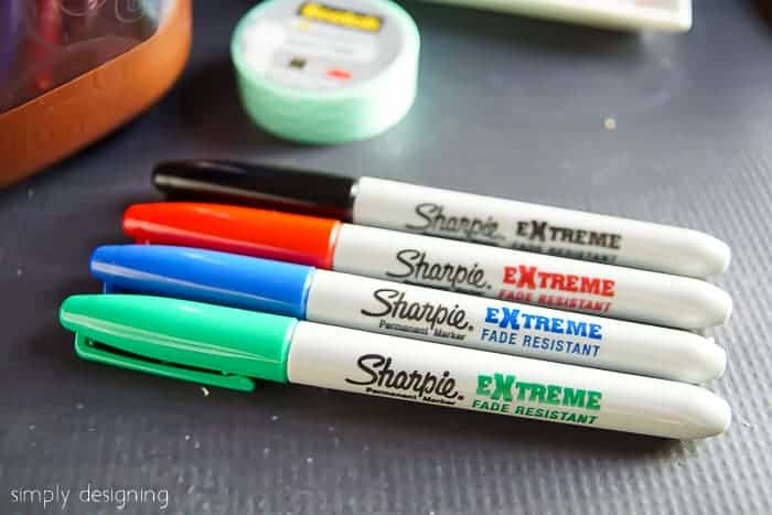 Sharpie extreme markers to label homemade Nutella recipes