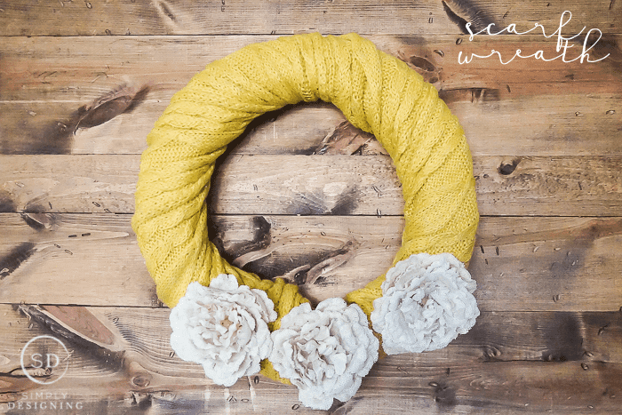 DIY Scarf Wreath