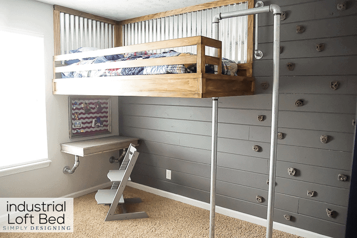 Loft Bed With Rock Wall And Fireman S Pole