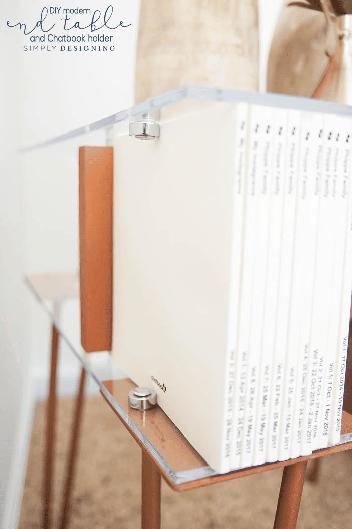 chatbook storage - chatbook holder - photobook storage - photobook holder - invisible bookends