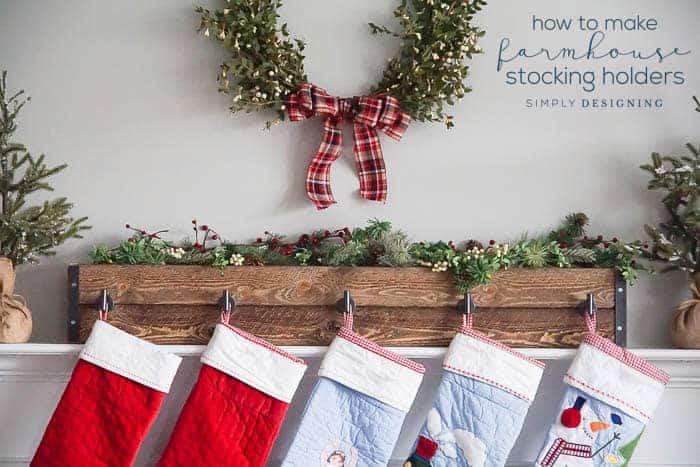 Farmhouse DIY Stocking Hangers