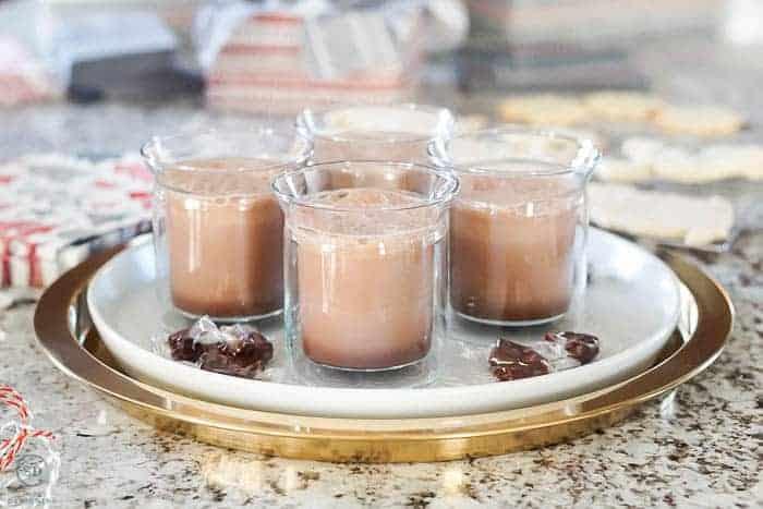 Homemade Hot Cocoa on beautiful tray
