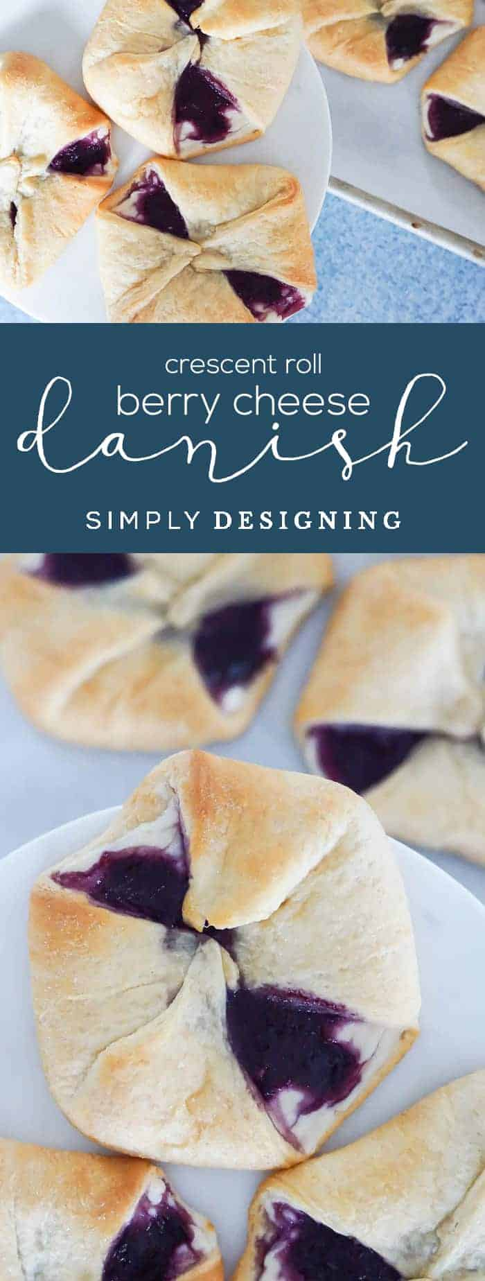 Crescent Roll Berry Cheese Danish Recipe